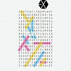 EXO Word Search (Phone Case) by pinkbook