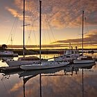 A Calm Marina Sunrise by fotosic