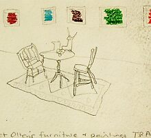 Margaret Olley's furniture with paintings by donnamalone