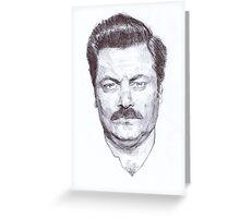 Ron Fucking Swanson Greeting Card