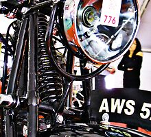 AWS 5. Vintage motorcycle front view by htrdesigns