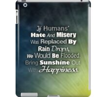 Emotions Quote iPad Case/Skin