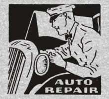 Vintage Advertising Auto Repair by Vana Shipton