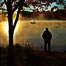 Fishermen On Pratt Pond by BavosiPhotoArt