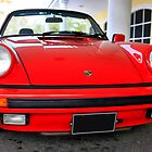 Red Porsche 911 by Chris L Smith