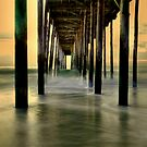 Winter Morning At OC Fishing Pier by Monte Morton