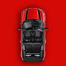 Mini Cooper Cabrio iPhone Case Red by davidkyte