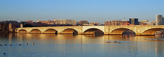 Memorial Bridge  - leading to Arlington National Cemetery by Bine