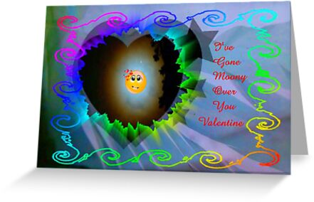 Moony Over You..valentine card by MaeBelle