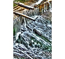 Winter Waterfall Photographic Print