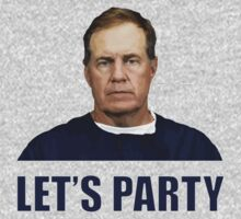 """Let's Party"" - New England Patriots coach Bill Belichick by Marcus Lywood"