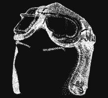 Dotwork Retro Aviator Goggles White! by illustrxn