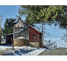 Drive by Barn Photographic Print
