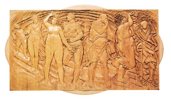 Quot metamorphosis relief wood carving by atelierwilfried