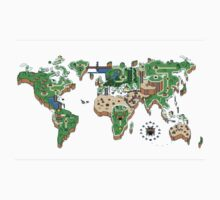Super Mario World Map T - Shirt by jummpy