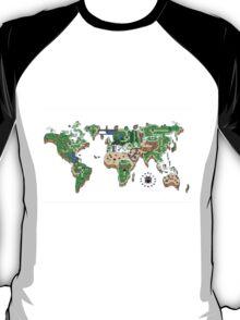 Super Mario World Map T - Shirt T-Shirt