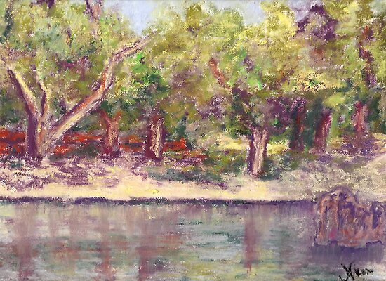 Afternoon in the Park (pastel) by Niki Hilsabeck