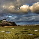 low tide at the lighthouse by ketut suwitra