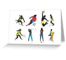 sport silhouettes Greeting Card