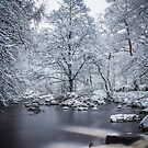 Hardcastle Crags in snow by Philip Kearney