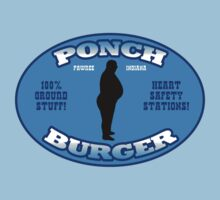 "Ponch Burger - Pawnee Indiana's ""Unhealthiest"" Fast Food Restaurant  by TeeHut"