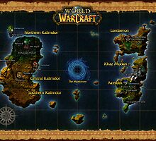 World Of Warcraft Poster - Map by ImmuneShockwave