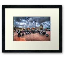 Barcelona Bikes Framed Print