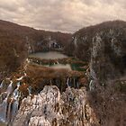 Panorama of Plitvice lakes canyon by TGasparovic