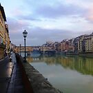 River to Road, Florence by Kelton Hardingham