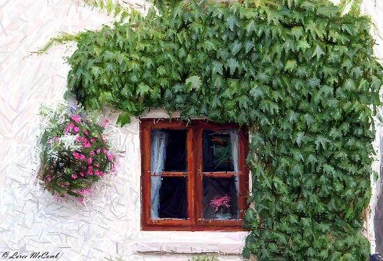 Cottage Window by Loree McComb