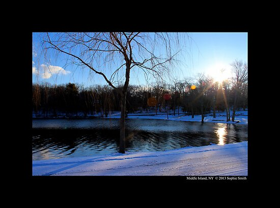 Winter Sunrise On The Spring Lake, Middle Island NY  by © Sophie W. Smith