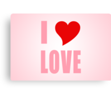 I Heart Love Canvas Print