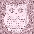 Cute  Pink Speckled Owl by kasseggs