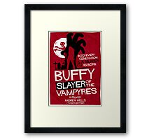 Slayer of the Vampyres Framed Print