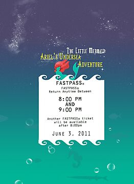 Ariel's Undersea Adventure- Fastpass by Margybear