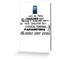 Time Lord Party Greeting Card