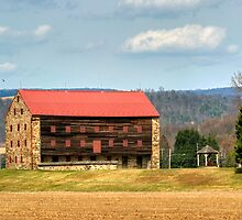 Vernal Equinox At Snyder's Stone Barn by Gene Walls