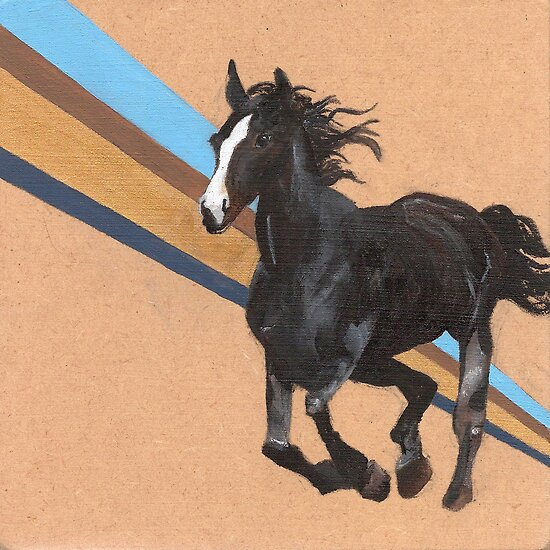 Black horse by NancyBenton