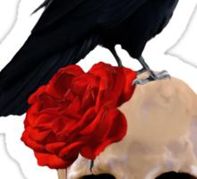 Nevermore - Crow Digital Painting by Amanda Jeffrey Sticker