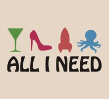 All I Need (cocktail, heels, rocket, octopus) by jezkemp