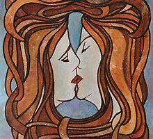 Lesbian Kiss (Art Nouveau Style) by taiche