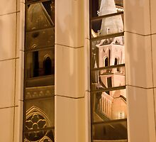 Reflection 5. Mathias Kirche Budapest Hungary by Ilona Barna