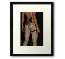 Girl With Guns Framed Print
