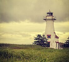 Lonely Lighthouse - Prince Edward Island by Edward Fielding