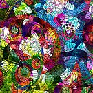 Colorful Retro Romantic Floral Collage by artonwear