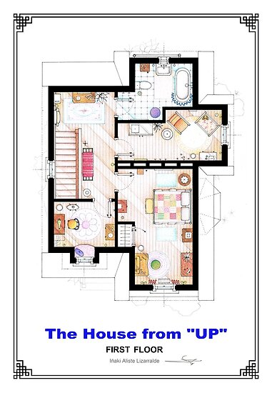 The House from UP - First Floor Floorplan by Iñaki Aliste Lizarralde