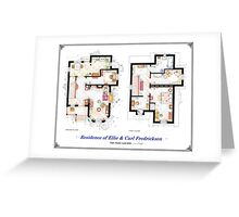 """Floorplan of the House from """"UP"""" Greeting Card"""