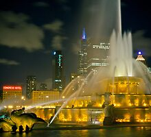Chicago's Buckingham Fountain by Jigsawman