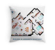 "Sheldon & Leonard's apartment from ""TBBT"" Throw Pillow"