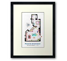 "Penny's apartment from ""TBBT"" Framed Print"